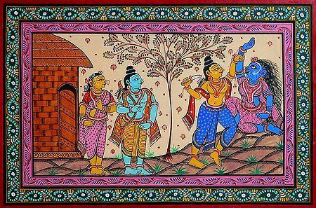 Lakshman Cuts Surpanakha's Nose in Presence of Rama and Sita