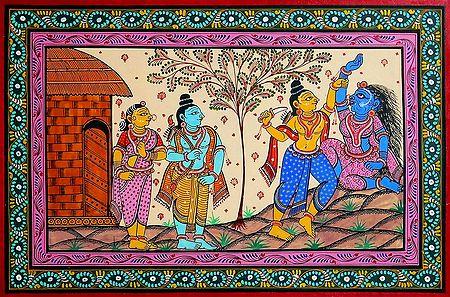 Lakshman Cuts Surpanakha's Nose in Presence of Rama and Sita