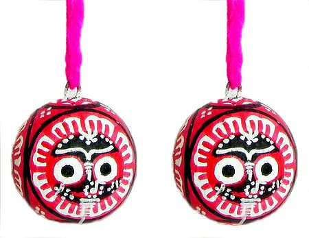 Set of 2 Hanging Betel Nut with Jagannathdev Pata Painting on Three Sides