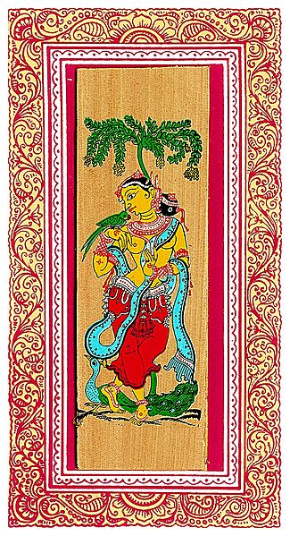 Apsara - Patachitra on Palm Leaf