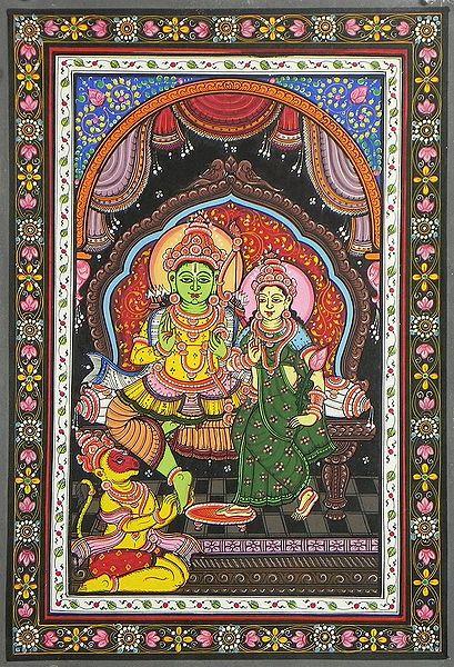 Lord Rama, Sita and Hanuman