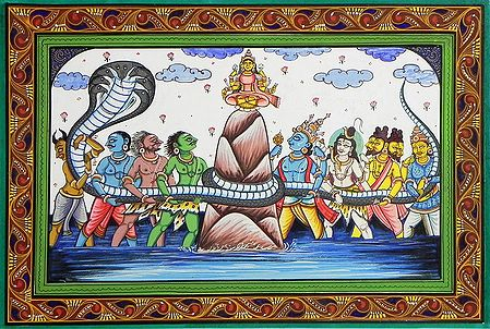 Samudra Manthan - Gods and Demons Churn the Ocean