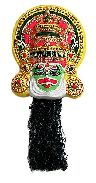 Bhima Mask in Kathakali Style - Wall Hanging