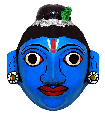 Krishna Mask from Telengana - Wall Hanging