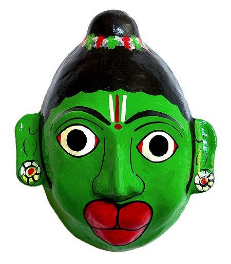 Hanuman Mask from Telengana - Wall Hanging