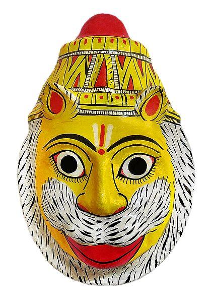 Narasimha Avatar Mask from Telengana - Wall Hanging