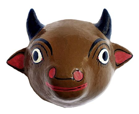 Cow Mask from Telengana - Wall Hanging