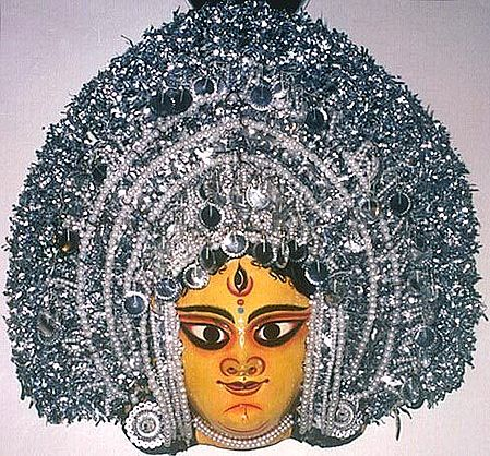 Chhau Dance Papier Mache Mask : Devi Durga