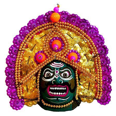 Papier Mache Chhau Dance Mask for Wall Decoration