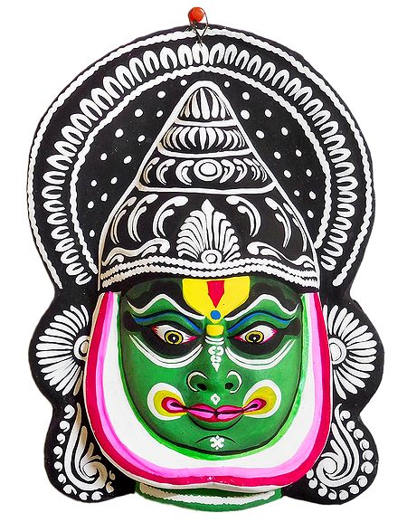Papier Mache Chhau Dance Bhima Mask for Wall Decoration