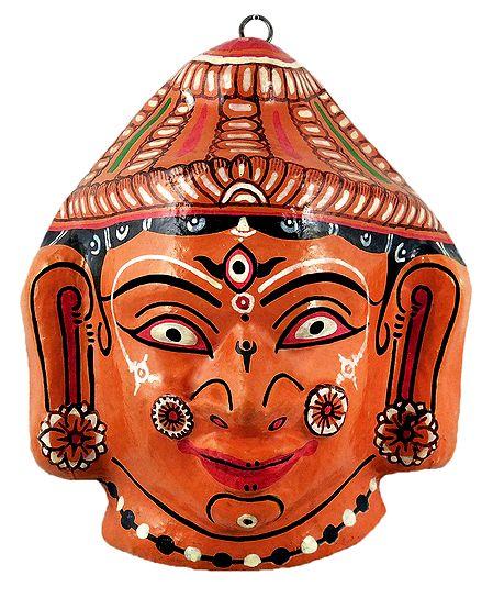 Durga Papier Mache Mask - Wall Hanging