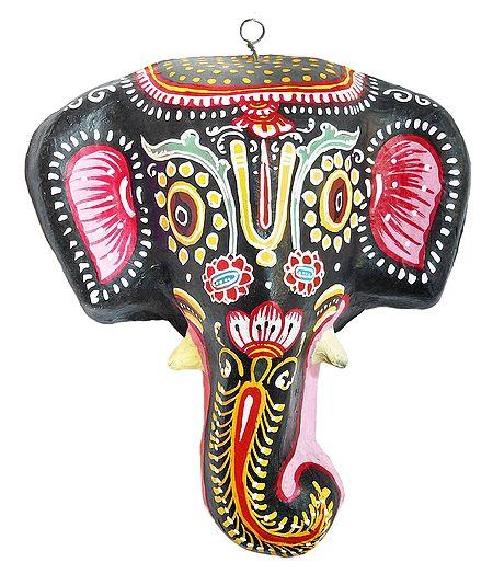 Decorative Elephant Mask - Wall Hanging