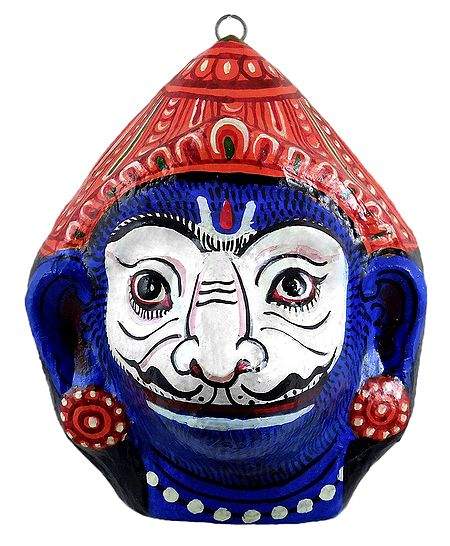 Papier Mache Jambavan Mask for Wall Decoration