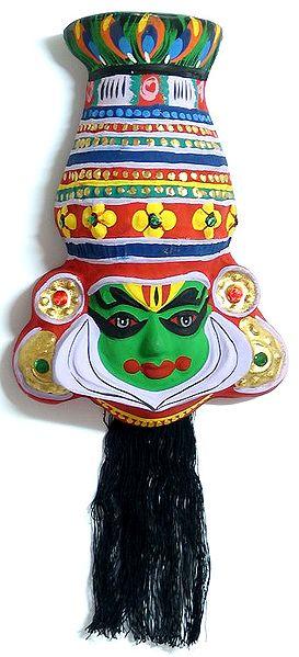 Kathakali Papier Mache Mask Krishna From Mahabharata