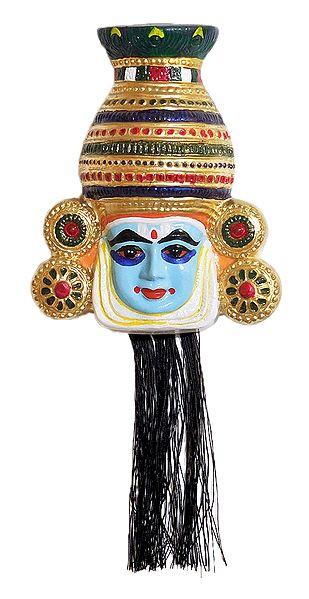 Kathakali Papier Mache Mask - Krishna from Mahabharata