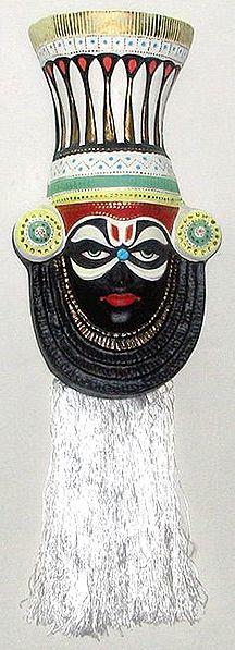 Ramayana Kathakali Papier Mache Mask : Surpanakha