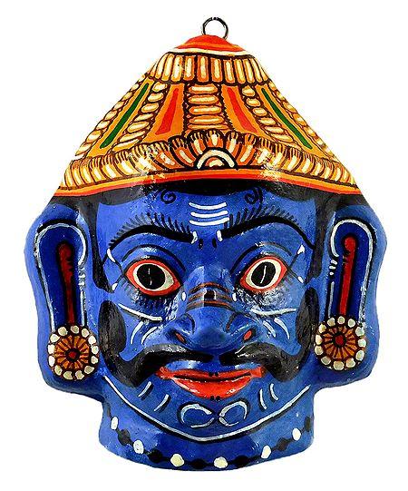 Ravana Papier Mache Mask - Wall Hanging
