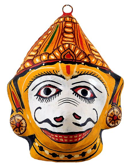 Papier Mache Mask of Sugreeva - Wall Hanging
