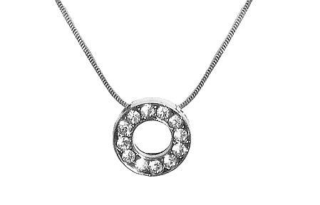 Alphabet O Pendant with Chain