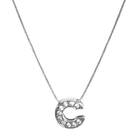 Alphabet C Pendant with Chain