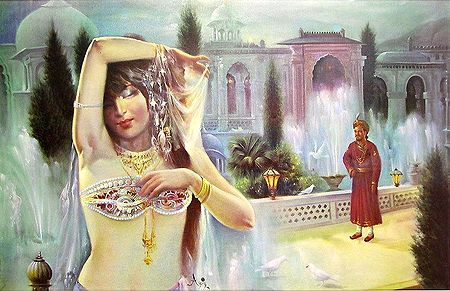Courtesan Entertains The Maharaja
