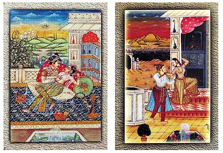 King with His Concubines - Set of 2 Unframed Posters