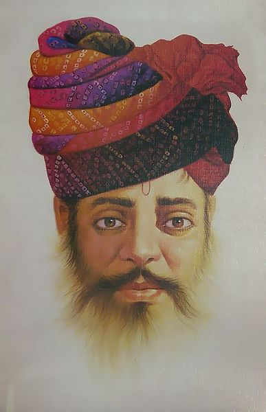 Portrait of Rajput Man