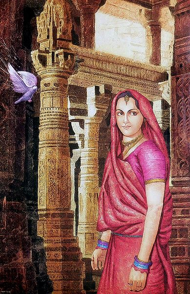 Gujrati Woman in a Palace