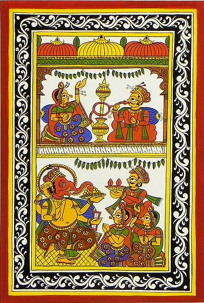 Royal Couple and Ganesha Puja