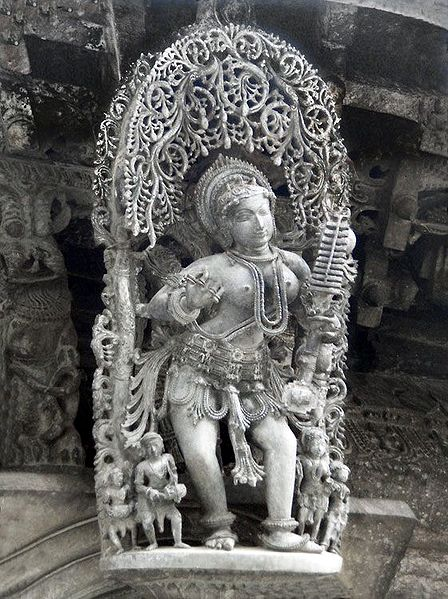 Apsara - Temple Sculpture from Belur, Karnataka, India