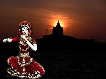 Bharatnatyam Dancer Photo - Unframed Photo Print on Paper