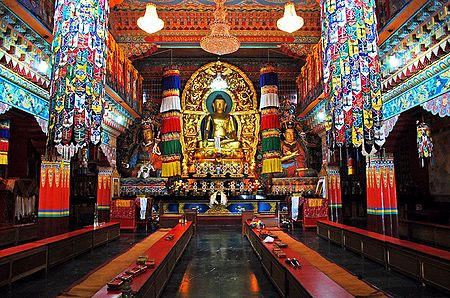 Buddha Statue in Ranka Monastery - East Sikkim, India