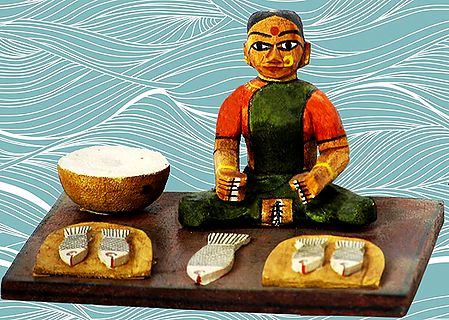 Woman Fish Seller Photo - Unframed Photo Print on Paper