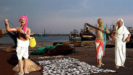 Fishermen - Unframed Photo Print on Paper