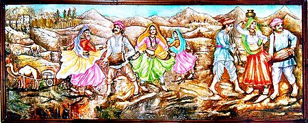 Folk Dancers of Rajasthan - Unframed Photo Print on Paper
