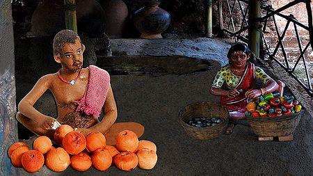 Fruit Seller Photo - Unframed Photo Print on Paper