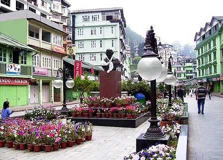 M.G Road Market During Spring, Gangtok - East Sikkim, India