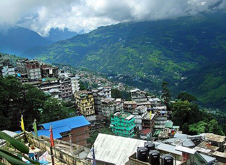 Gangtok City from M.G Road - East Sikkim, India