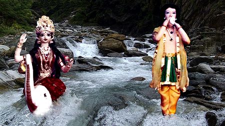 Bhagirath and Goddess Ganges - Unframed Photo Print on Paper