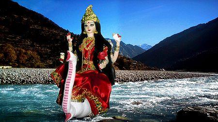 Goddess Ganges Photo - Unframed Photo Print on Paper