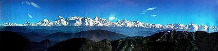 Himalayan Peaks from Kausani, Uttarakhand, India
