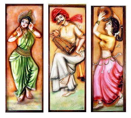 Indian Dancers - Unframed Photo Print on Paper