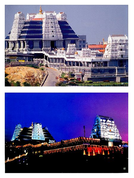 Isckon Temple, Bangaluru - Set of 2 Photo Prints