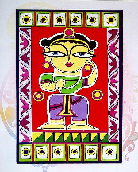 Balaram - Photo Print of Jamini Roy Painting