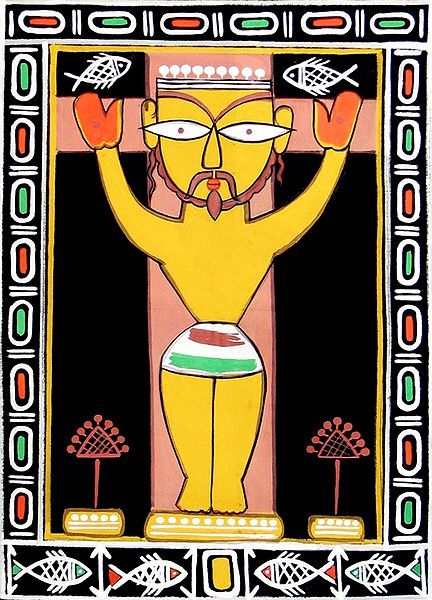Jesus Christ - Photo Print of Jamini Roy Painting