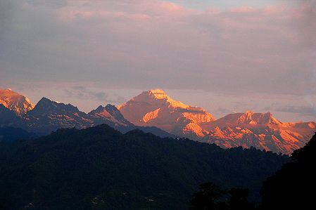 Kangchenjunga at Sunset from Ganesh Tok, Gangtok, India