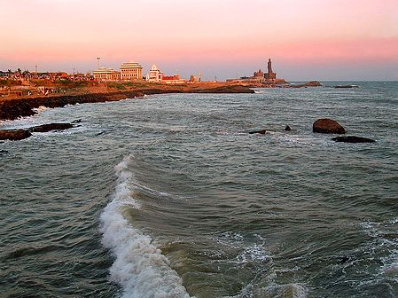 Beauty of Kanyakumari at Dusk - Tamil Nadu, india