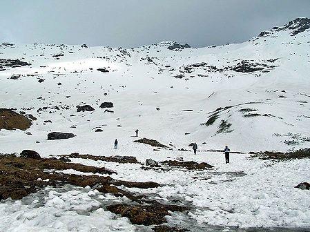 Snow Covered Katao Valley - North Sikkim, India