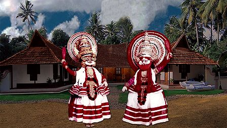 Kathakali Dancers - Bhima and Dushsasana