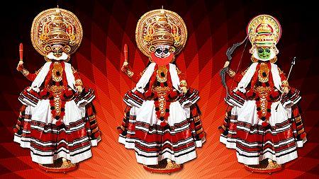 Kathakali Dancers - Unframed Photo Print on Paper